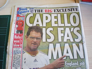 Fabio Capello in the Sun