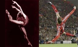 A ballet dancer, Peter Crouch.