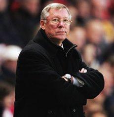 Alex Ferguson scowling.