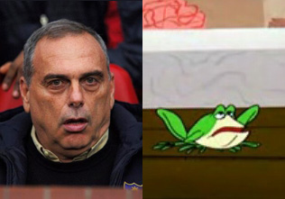 Avram Grant looks like Michigan J. Frog.