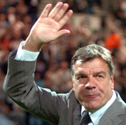 Sam Allardyce waves a meaty goodbye.