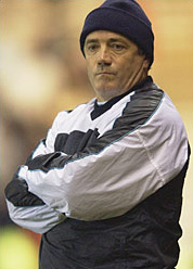 Kevin Keegan in a cap.