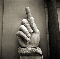 The pointing hand of the Emperor Constantine.