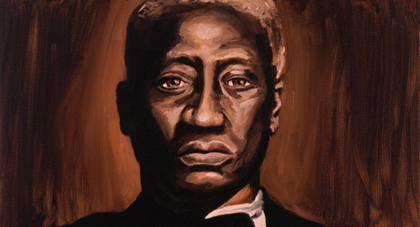 Leadbelly, painted.