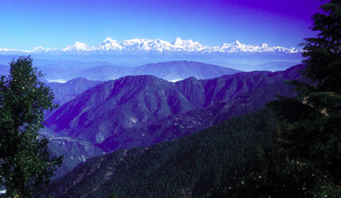 The Himalayas from Naini Tal