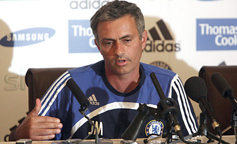 Mourinho at the press conference.