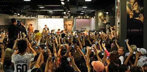 Beckham in Australia.