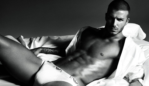 David Beckham spreading.