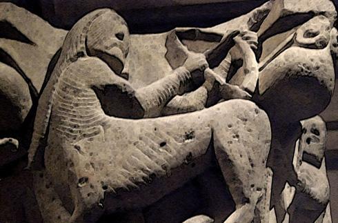 Centaur in stone.