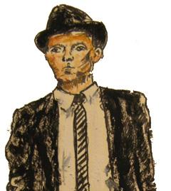 Frank Sinatra, sketched