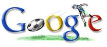 Google logo, soccerized