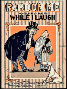 1920s sheet music: Pardon Me While I Laugh