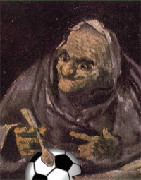 Goya's Old Woman Eating from a Football