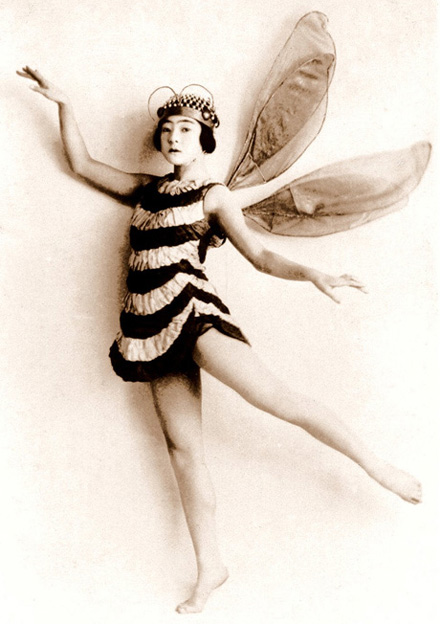 A Japanese dancer dressed as a bee.