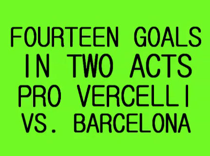 Watch Pro Vercelli take on Barcelona