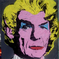Mr. Spock in the style of Darth Vader in the style of Andy Warhol's Marilyn Monroe