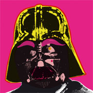 Darth Vader in the style of Andy Warhol's Marilyn Monroe