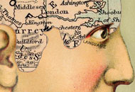 Phrenological map of England