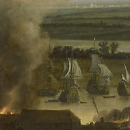 The burning of the English fleet