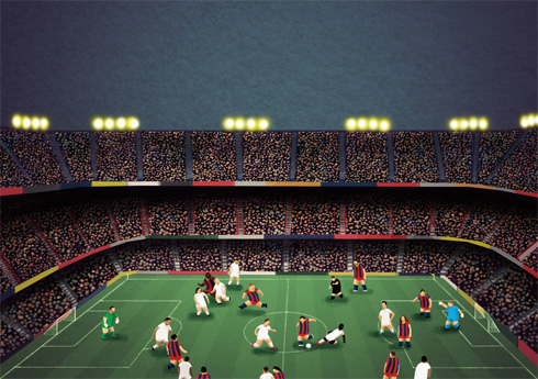 El Clasico, Barcelona v. Real Madrid at the Camp Nou, by Matthew Craven
