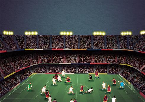 El Clasico, Barcelona v. Real Madrid at the Camp Nou, by Matthew Craven