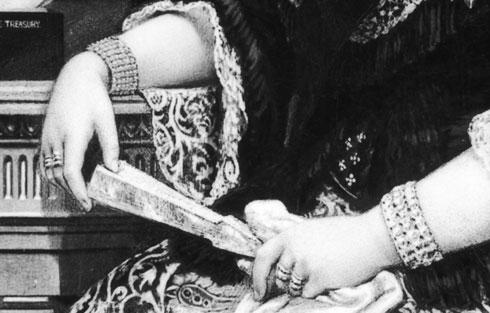 Queen Victoria's hands