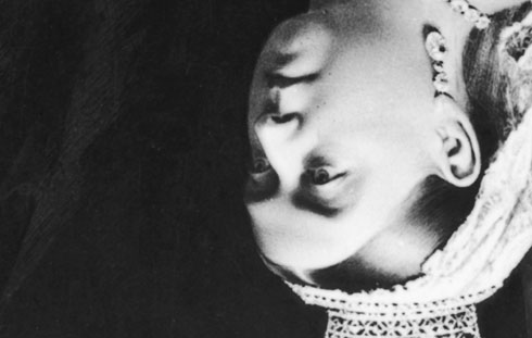 Queen Victoria's upside-down head