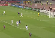 Watch Messi score over van der Sar