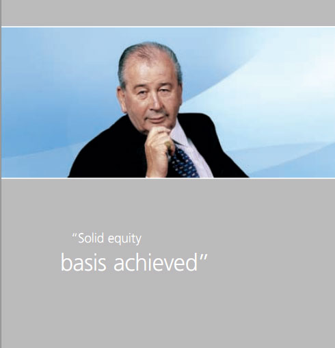 Solid equity basis ACHIEVED